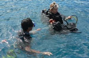 Baptême de plongée dans la célèbre passe en S